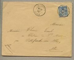 Lettre Avec N°101 Oblitéré BIRKADEM En 1899 Pour L'Allier - Autres