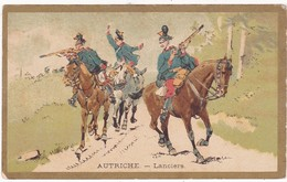 Chromo - Image : Lanciers - Autriche ( Militaria ) - Dos Uni Blanc - - Tee & Kaffee