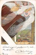 "010388 ""PASQUA - ANGELI - CAMPANE"" ANIMATA,  ILLUSTRATORE KOCH 1900. CART SPED 1908 - Pâques"