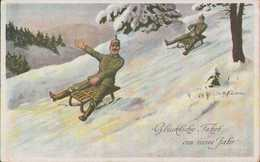 Neujahrsgruß, Grenadier-Landwehr-Regiment 100, Sachsen, Feld-Postkarte, Anton Hoffmann, Militär, Deutsches Reich - Weltkrieg 1914-18