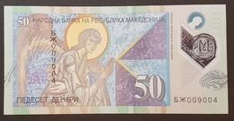 EM0305 - Macedonia 50 Denari Polymer Banknote 2018 #BX009004 UNC - Macedonia