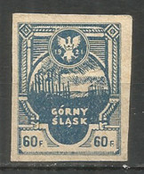 Poland 1921 Year, Mint Stamp Local  Mountain Slack - Usati