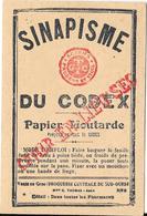 SINAPISME Du Codex - Papier Moutarde Vente En Gros Droguerie Centrale Du Sud-Ouest M. G. THOMAS - AGEN - Old Paper
