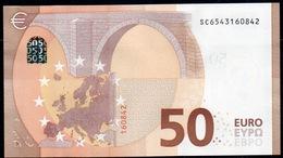 """50 EURO ITALIA  SC  S032  Ch. """"54""""  - DRAGHI   UNC - EURO"""