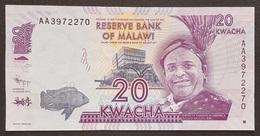 EM0305 - Malawi 20 Kwacha Hybrid Banknote 2012 #AA3972270 Serial AA UNC P.57a - Malawi