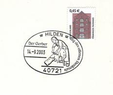 40721 Hilden - Lederindustrie Lederarbeiter Balg Abschaben - Tönninger Rathaus - Berufe