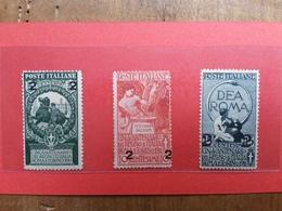 REGNO - Sovrastampati Nn. 99/101 Nuovi * + Spese Postali - 1900-44 Vittorio Emanuele III