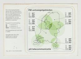 Sticker Radio/TV: FM-ontvangstgebieden PTT Telecommunicatie Hilversum 1-2-3-4 (NL) - Aufkleber