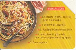 ITALY - Spaghetti Alla Carbonara, Exp.date 31/12/03, Used - Levensmiddelen