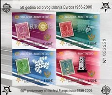 Imperf.50 Years CEPT 2006 Montenegro Block 2B ** 80€ Nr. Hoja M/s Maps Bloc History S/s Philatelics Sheet Bf EUROPA - 2006