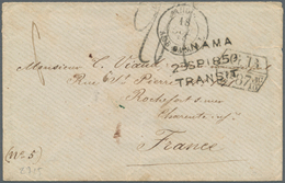 Tahiti: 1859. Envelope (small Tears, Stains) To France From The 'Viaud' Correspondence (No 5) With O - Tahiti