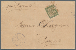 Tahiti: 1907. Unpaid Envelope Front The Cook Islands (right Side Shorthend, Vertical Fold) Addressed - Tahiti