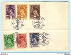 TSCHECHOSLOWAKEI CSSR 433-438 Präsident Masaryk - SST Slogan Cachet 10.06.46 Lidice (Scan)(29250) - Tschechoslowakei/CSSR