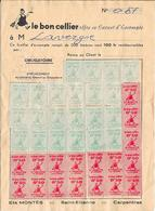 Le Bon Cellier (Etablissement MONTES à St Etienne Et Carpentras) Offre Ce Carnet D'Escompte - Alimentaire