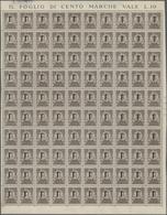 Italien - Gebührenmarken: Briefzustellung: 1944, Revenue Issue For Letter Delivery 10c. Dark Brown ( - 1900-44 Vittorio Emanuele III