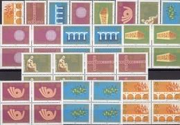 CEPT Jugoslavija-Serbien 3257/4+4-Block ** 40€ Ss Stamps On Stamp Blocs Art M/s Sheets Bf 50 Years EUROPA 1956-2006 - Europa-CEPT