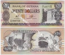 GUYANA 20 (TWENTY) DOLLARS 2010 KAIETEUR FALLS - SHIP SHIPBUILDING - AUNC - Guyana