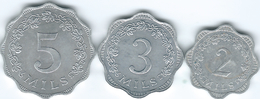 Malta - 1972 - 2, 3 & 5 Mils - KMs 5-7 - Malta