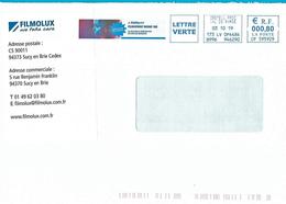 EMA CP 595929 Flamme Filmolux Vinyles Adhésifs Sucy En Brie Val De Marne - Postmark Collection (Covers)