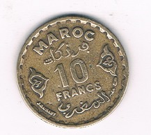 10 FRANCS 1371 AH MAROKKO /3274/ - Marokko