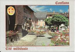 73. CPM. Savoie. Conflans. Cité Médiévale. Place Du Village (animée) - Frankreich