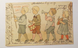"""""""Neujahr, Kinder, Musizieren, Trommel, Trompete"""" 1907 ♥  - New Year"""