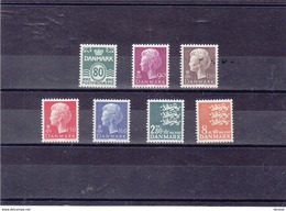 DANEMARK 1979 Série Courante Yvert 680-686 NEUF**MNH - Danemark