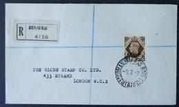 BOIC M.E.F., 1943 Issue 1 Shilling Solo Franking On Registered Cover To GB         -CQ38 - Grossbritannien (alte Kolonien Und Herrschaften)