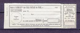 FRANCE COLIS POSTAUX DE PARIS POUR PARIS DALLAY 159 - Neufs