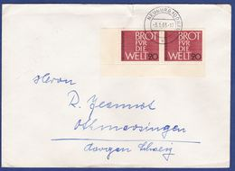 Mehrfachfrankatur MiNr. 389, Eckrand (aa0280) - Storia Postale