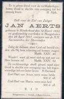 Doodsprentje Jan Aerts  ° 1850 Minderhout + 1917 Hoogstraten - Devotion Images