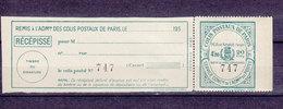 FRANCE COLIS POSTAUX DE PARIS POUR PARIS DALLAY 155 - Neufs