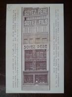Carte Façade De Commerce SOYEZ Père & Fils 21, Rue Des Ponts De Comines   - LILLE - Lille
