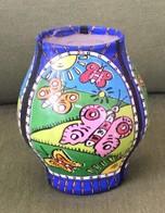 Vintage Handmade Decorative Wax Jerusalem Candle, Galil LTD, Made In Israel - Arte Orientale