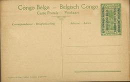 Entier Carte Postale La Poste De Rutshuru. Congo B Surch EST Africain Allemand - Ruanda
