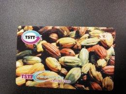 TRINIDAD & TABAGO  $ 30,-  CACAO NUTS    Prepaid      Fine Used Card  **1585 ** - Trinidad En Tobago