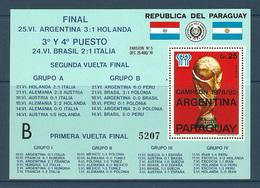 Paraguay - 1979 - ( 1978 World Cup Soccer Championships, Argentina ) - High C.V. - MNH (**) - Paraguay
