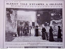 1909 AVIATION - BLÉRIOT VOLE D'ÉTAMPES À ORLEANS - FERME DE MONDÉSIR - Books, Magazines, Comics