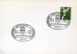 53820 Germany, Special Postmark 1981  Dag Hammarsjold,  UNO Day - Dag Hammarskjöld