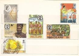 Swaziland - Lotto Di 6 Francobolli Usati Tutti Diversi - Senza Album!!!! - Swaziland (1968-...)