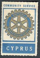 "Zypern Cyprus Chypre ~1958 "" Rotary Club Community Service "" Vignette Cinderella Reklamemarke Werbemarke - Erinofilia"