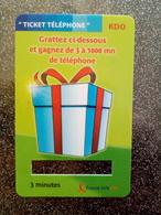 FRANCE TICKET MALIGNE 3 MINUTES KDO UT - FT