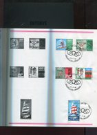 Belgie 1968 1456/60 Mexico 1968 Olympics Cycling Athletics Weight Lifting Sailing Aankondigingsfolder Post FDC - Souvenir Cards
