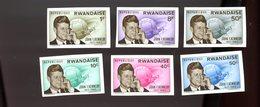 Rwanda 1965-Kennedy-Espace-Téléphone-YT 122/7+B5***MNH-NON Dentelé - Afrika