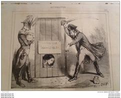 1848 Journal LE CHARIVARI - RÉPUBLIQUE INDIVISIBLE Par CHAM - 1850 - 1899