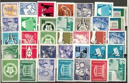 """UNESCO Uno USA """" 35 Different Worldwide UNESCO Non Profit Stamps """" Vignette Cinderella Reklamemarke - Erinofilia"""