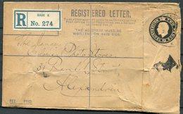 WW1 Army Post Office Base K, Kantara Egypt Registered Letter - Alexandria - 1902-1951 (Könige)