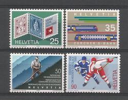 Switzerland 1990 Anniversaries Y.T. 1338/1341 ** - Switzerland