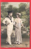 FANTAISIE Couple D'Enfants CROISSANT  CP 194 - Couples