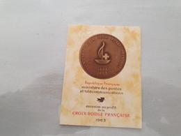 15133       CARNET DE TIMBRES NEUFS FRANCAIS CROIX ROUGE  ANNEE 1963 - Croix Rouge